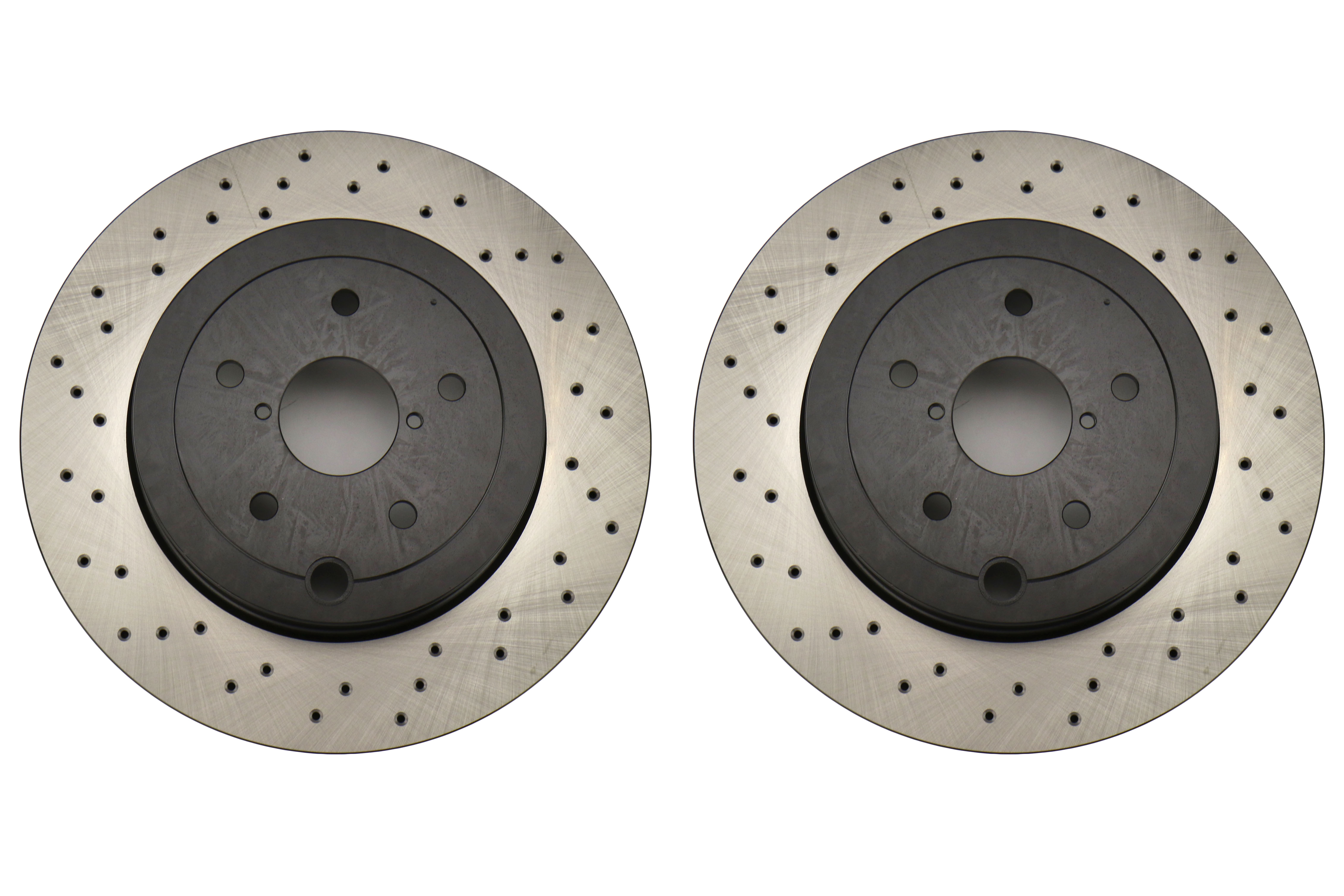 Centric Premium OE Style Drilled Brake Rotor Pair Rear