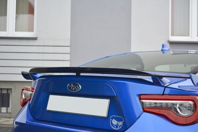 Maxton Design Gloss Black Gurney Flap V1 for OEM BRZ Spoiler