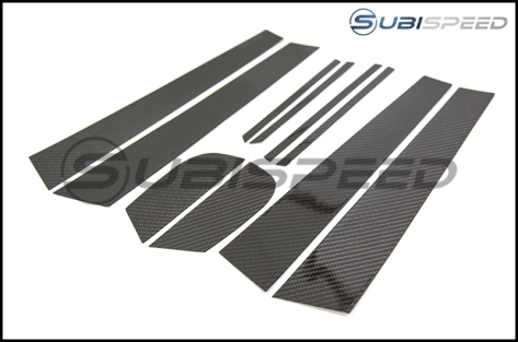 OLM S-line Carbon Fiber Pillar Trim