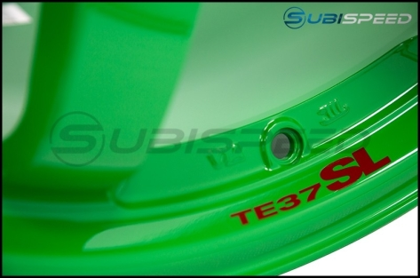 Volk TE37SL Takata Green 18x9.5 +40 - 2013+ FR-S / BRZ / 86 / 2014+ Forester