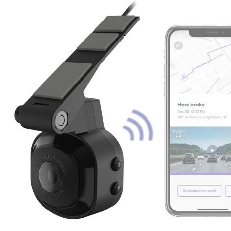 Scosche Nexar Dash Cam Fixed 32 GB Low Profile Fixed Mount - Universal