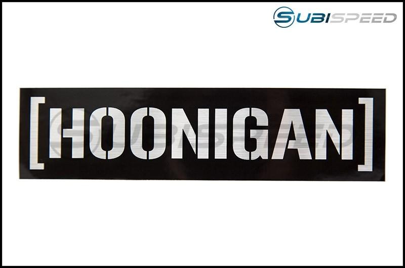 HOONIGAN Censor Bar Sticker Black / Silver