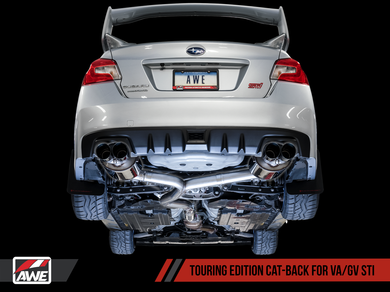 AWE Touring Edition Exhaust (Black or Chrome Tips, 102mm)