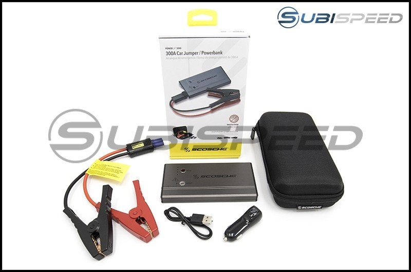 Scosche PowerUp 300 Portable Car Jump Starter / Flashlight / USB Power Bank