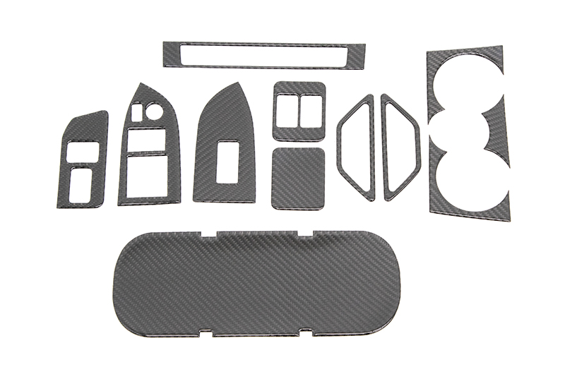 OLM Carbon Fiber Interior Dress Up Kit (12pc) Premium RHD
