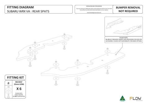 Flow Designs Rear Spats - 2015+ WRX / 2015+ STI