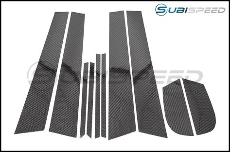 OLM Carbon Pillar Post Kit - 2017+ Impreza