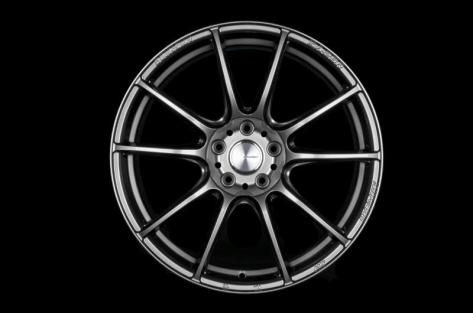 WedsSport SA-25R 18x9.5 +45 Platinum Silver Black - 2013-2020 FRS / BRZ / 86