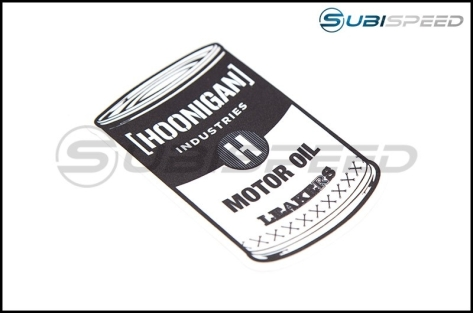 HOONIGAN Oil Can Sticker - Universal