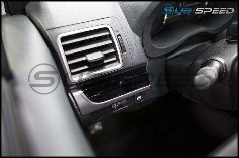 Subaru OEM Silver and Piano Black Dash Trim - 2015-2021 Subaru WRX & STI / 2014-2018 Forester / 2013-2017 Crosstrek / 2012-2014 Impreza