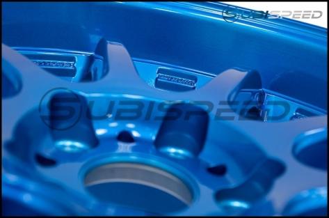 Work Emotion D9R 18x9.5 +38mm Candy Apple Blue - 2015+ WRX / 2015+ STI