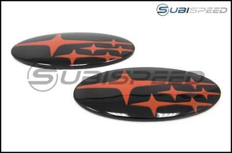GCS Front and Rear Gloss Black Subaru Emblem Kit - 2015+ WRX / 2015+ STI