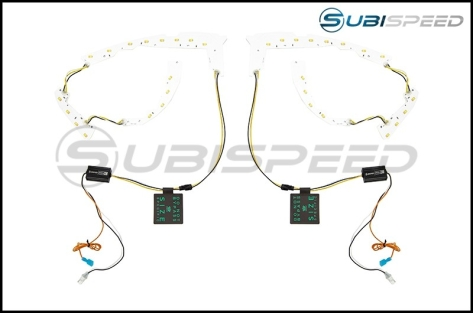 OLM Switchback LED C-light DRLs for Headlights by Profile Performance - 2015+ WRX / 2015+ STI