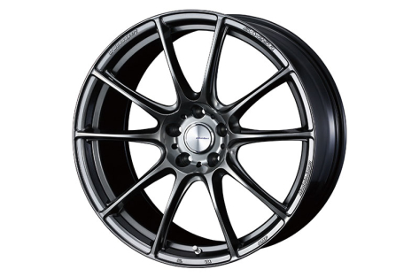 WedsSport SA-25R 19x9.5 +38 Platinum Silver Black - 2015-2021 Subaru WRX & STI