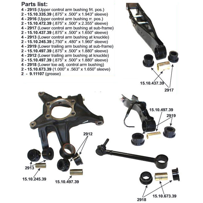 Energy Suspension Lower Control Arm Bushings (Rear)
