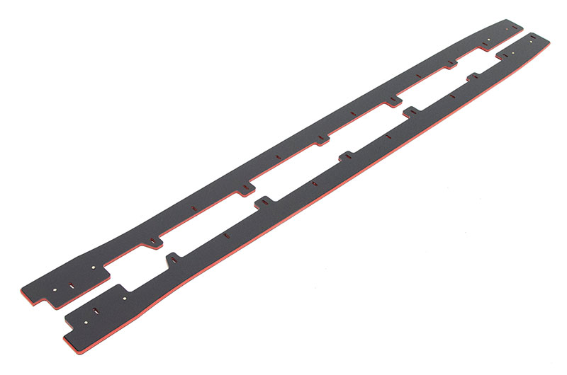 Maxton Design Racing Side Diffusers (Black+Red)