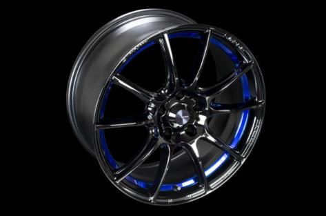 WedsSport SA-25R 18x9.5 +38 Blue Light Chrome II - 2015-2020 Subaru WRX & STI