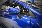 3D Carbon Fiber Quarter Window Trim Overlay - 2015+ WRX / 2015+ STI
