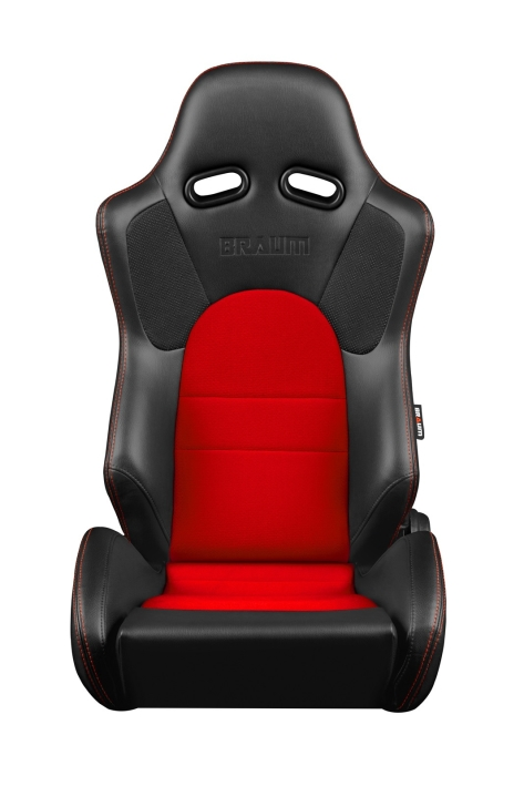 Braum Advan Series Racing Seats (Black & Red) - Universal
