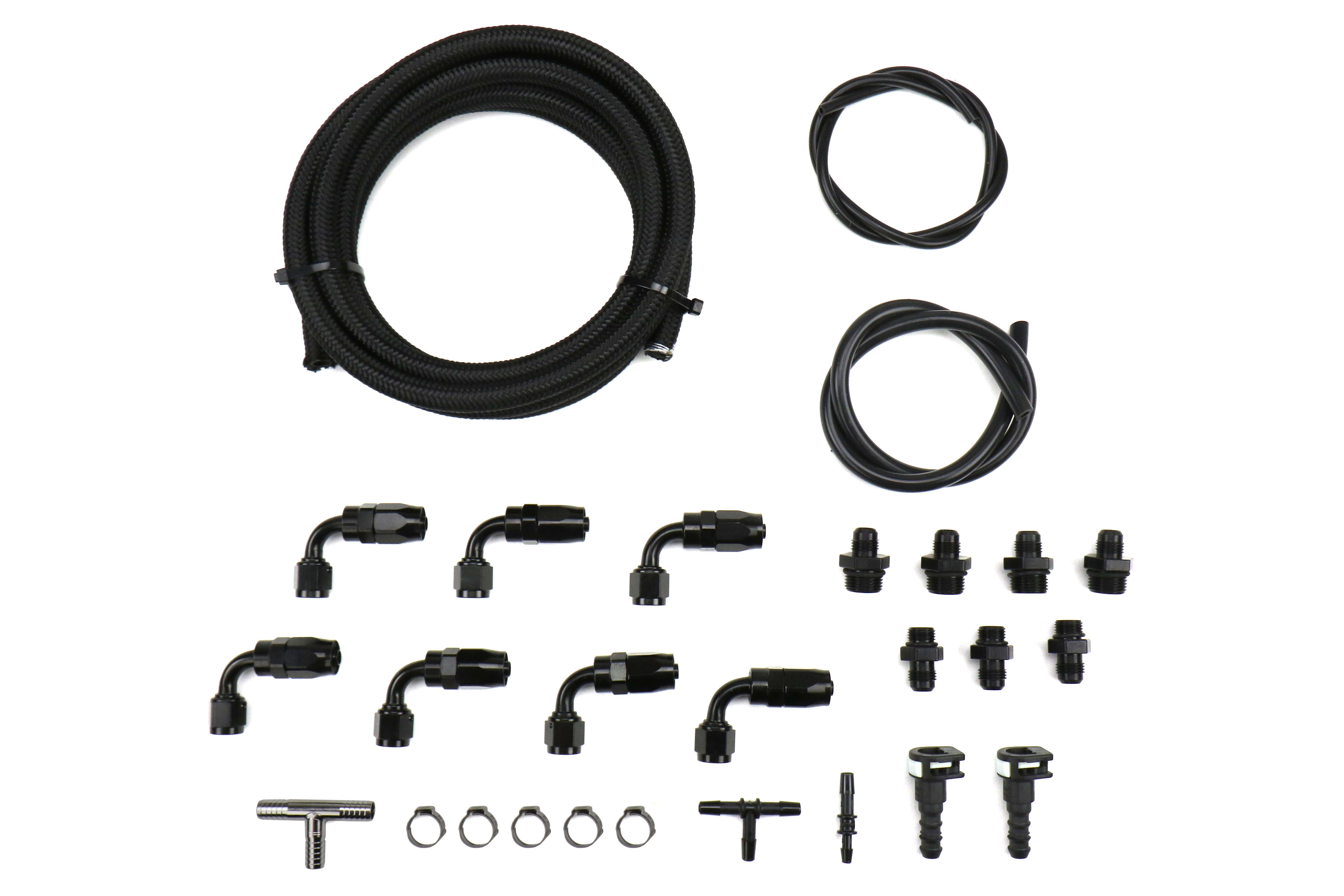 IAG Braided Fuel Line and Fitting Kit For IAG Top Feed Fuel Rails and -6 Aeromotive FPR