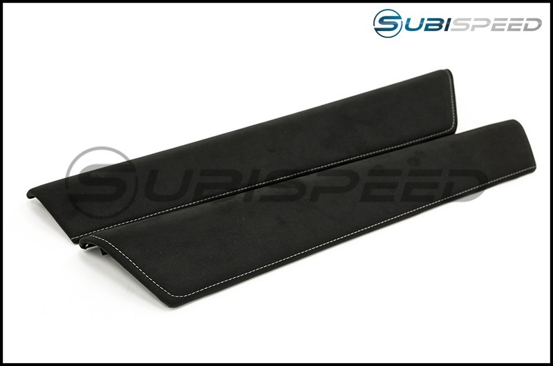 Toyota 2017 Suede Door Trim with Silver Stitching (Upper)