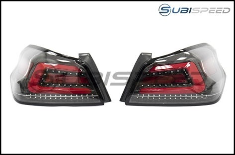 SubiSpeed LE Carbon Fiber USDM TR Style Sequential Tail Lights