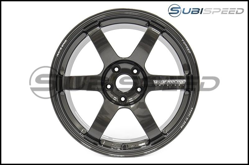 Volk TE37 SAGA Diamond Black 18x9.5 +38 - 2015+ WRX / 2015+ STI