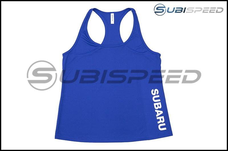 Subaru Blue Performance Racerback Ladies Tank