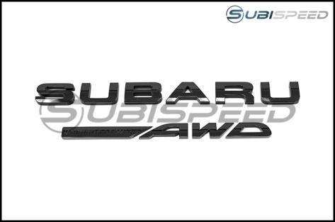 Subaru OEM Black Symmetrical AWD Badge - Universal
