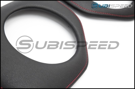 Toyota OEM JDM Speaker Trim Piece Pads with Red Stitching (bundle) - 2013+ FR-S / BRZ / 86