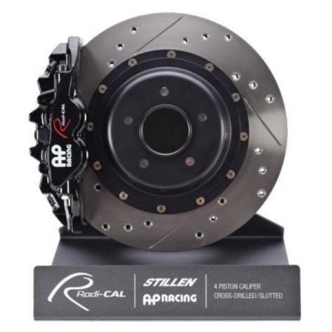 AP Radi-CAL Front 4 Piston Drilled/Slotted Big Brake Kit