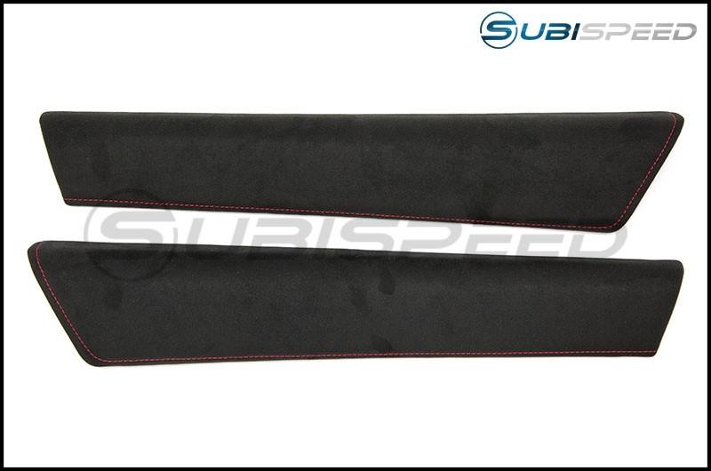 Subaru tS Ultrasuede Upper Door Trim with Red Stitching