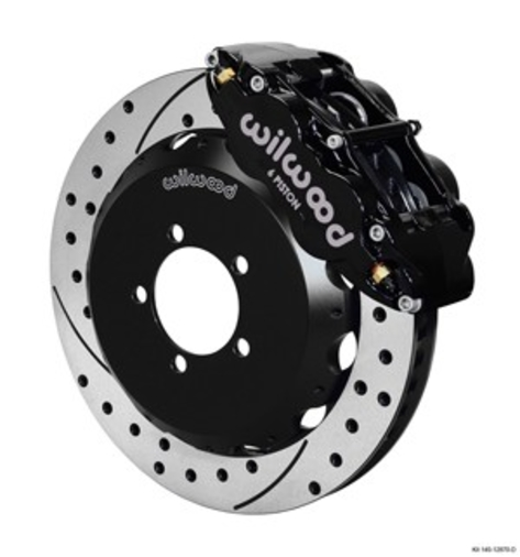 Wilwood 6R Drilled Front (Black)