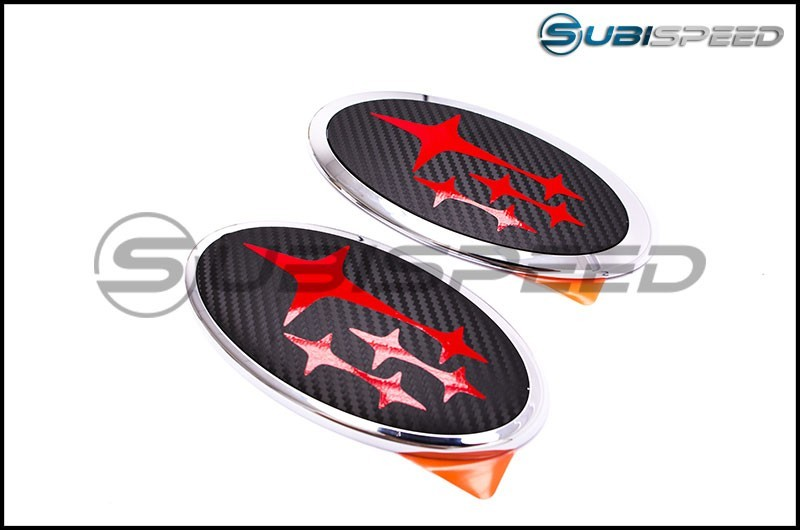 Sticker Fab Front and Rear 3D Carbon Emblem Overlay