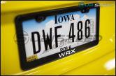 RSP WRX Logo Carbon Fiber License Plate Frame - 2015+ WRX
