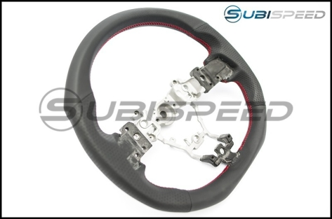 DAMD D Shaped Steering Wheel (Red Stiching)