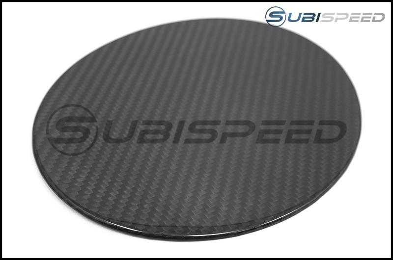 OLM S-line Carbon Fiber Fuel Door Cover - 17+ Impreza 5D
