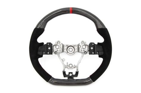 FactionFab Carbon and Suede Steering Wheel - 2015+ WRX / 2015+ STI