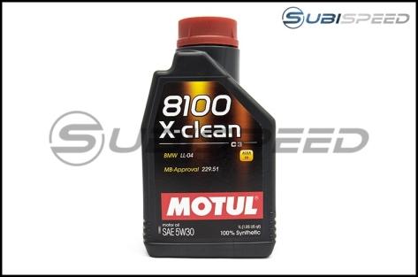 MOTUL 8100 X-Clean 5W30 Full Synthetic Motor Oil (1.05 Quarts)