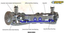 SuperPro SPF Differential Mount Bushings - 2008-2014 WRX / 2008-2014 STI