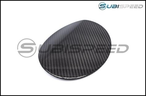 OLM S-line Dry Carbon Fiber Fuel Door Cover - 2015+ WRX / 2015+ STI