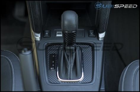 Sticker Fab 3D Carbon Fiber CVT Shifter Overlay (LHD Only) - 2015+ WRX CVT / 2014-2018 Forester CVT / 2013-2017 Crosstrek CVT