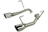 Nameless Performance Axleback Exhaust 4in Single Wall Tips - 2014-2018 Forester XT