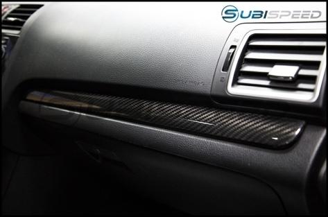 OLM S-Line Dry Carbon Fiber Dash Trim Covers - 2015+ WRX / 2015+ STI
