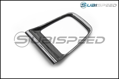 OLM S-Line Dry Carbon Fiber CVT Shifter Trim Cover - 2015+ WRX