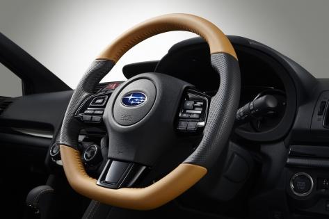 Subaru JDM S4 Sportiva Tan Steering Wheel