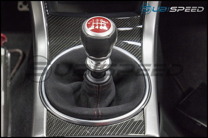 JDM Station Alcantara Style Shift Boot with Red Stitching