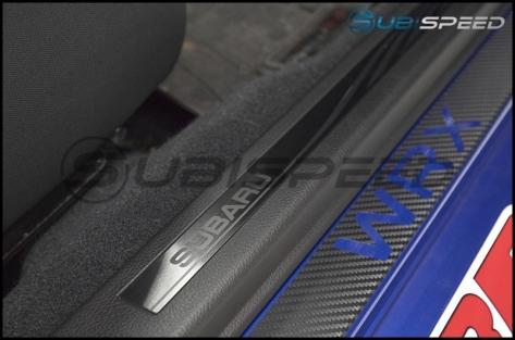 Subaru JDM S4 SporVita Black Etched Door Sills - 2015+ WRX / 2015+ STI