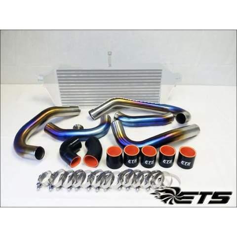 ETS Titanium Rotated Turbo Piping Kit Stock MAF Stock BOV Titanium Burned