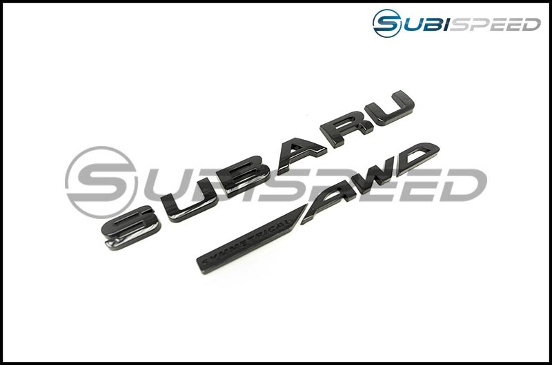 Subaru / Symmetrical AWD Gloss Black Trunk Emblem